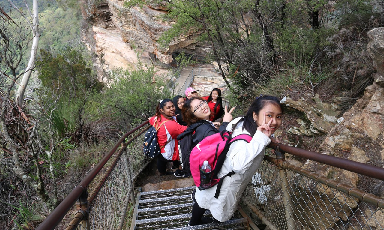 Plumpton High School International students hiking